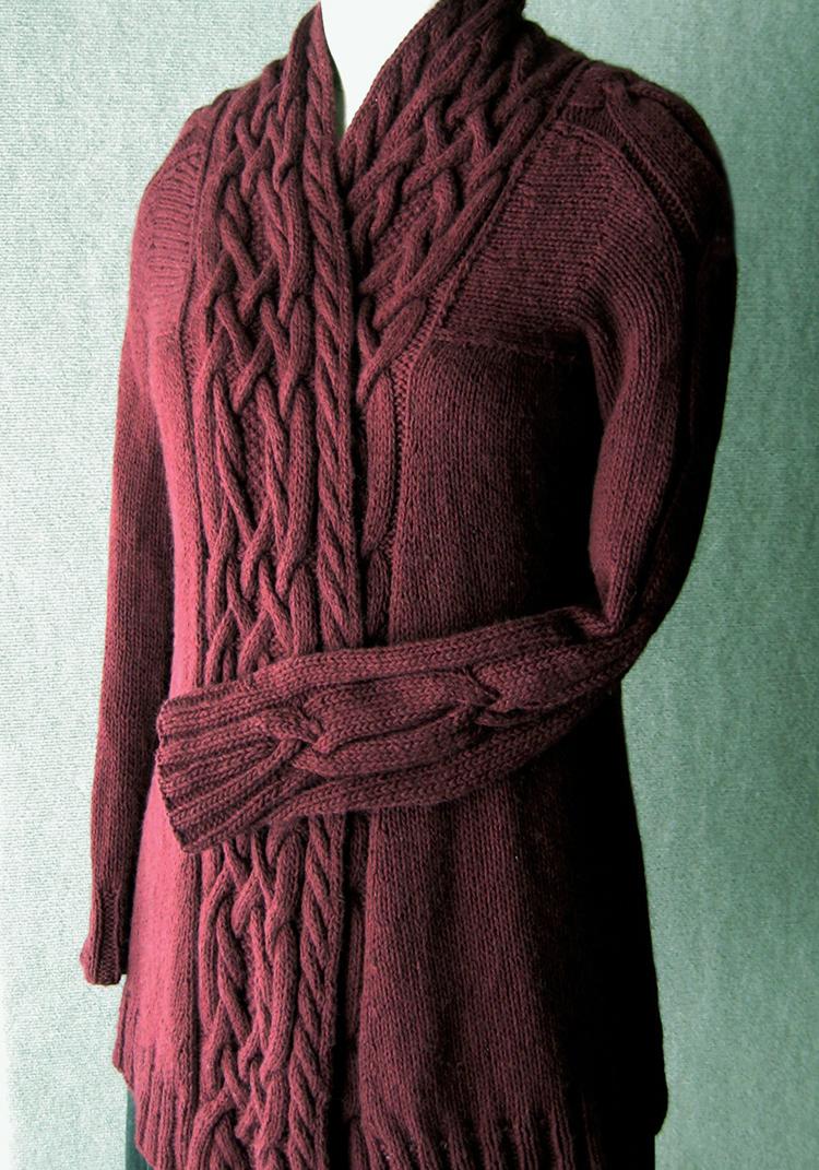 Knitting Pattern Waterfall Cardigan Free : Sunday Knits - whats new
